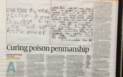 Finding a cure for Poor Penmanship:   Newspaper Article from TheJC.com