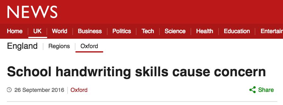 School handwriting skills cause concern in schoolchildren