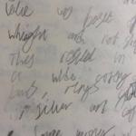 band handwriting