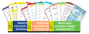 colour coded worksheets